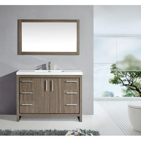 Fabulous Mtd Vanities Miami 48 Single Sink Bathroom Vanity Set With Mirror Home Interior And Landscaping Ologienasavecom