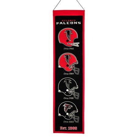 "Atlanta Falcons Winning Streak Past Mascots Wool Heritage Banner (8""x32"")"