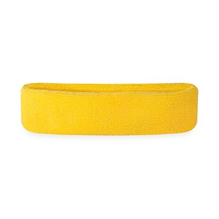 1e289391a7c3 Kids Headband (Multiple Colors Available)Athletic Cotton Terry Cloth Head  Sweatband for Sports (Neon Yellow) By Suddora - Walmart.com