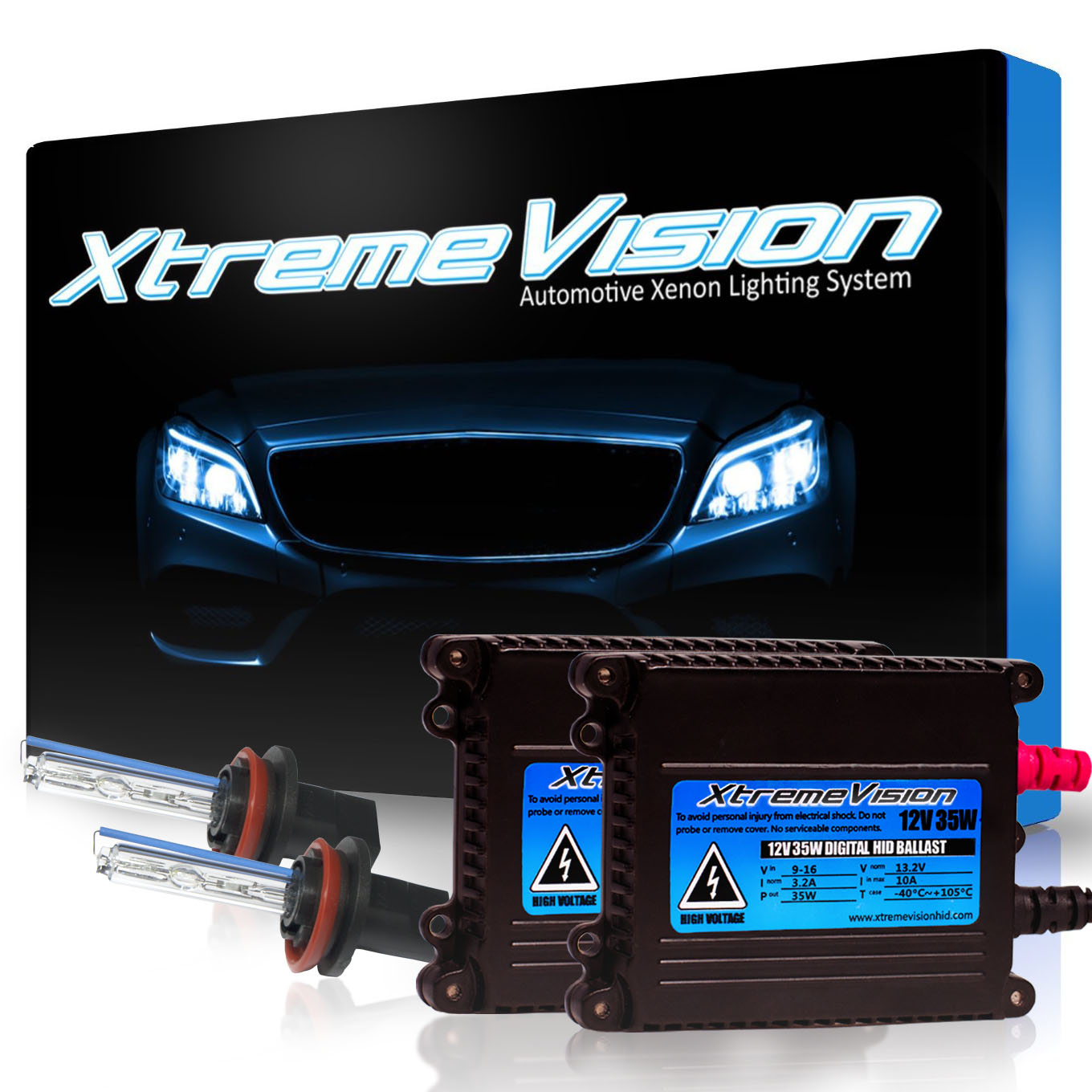 XtremeVision 35W HID Xenon Conversion Kit with Premium Slim Ballast - H11 15000K - Pink - 2 Year Warranty