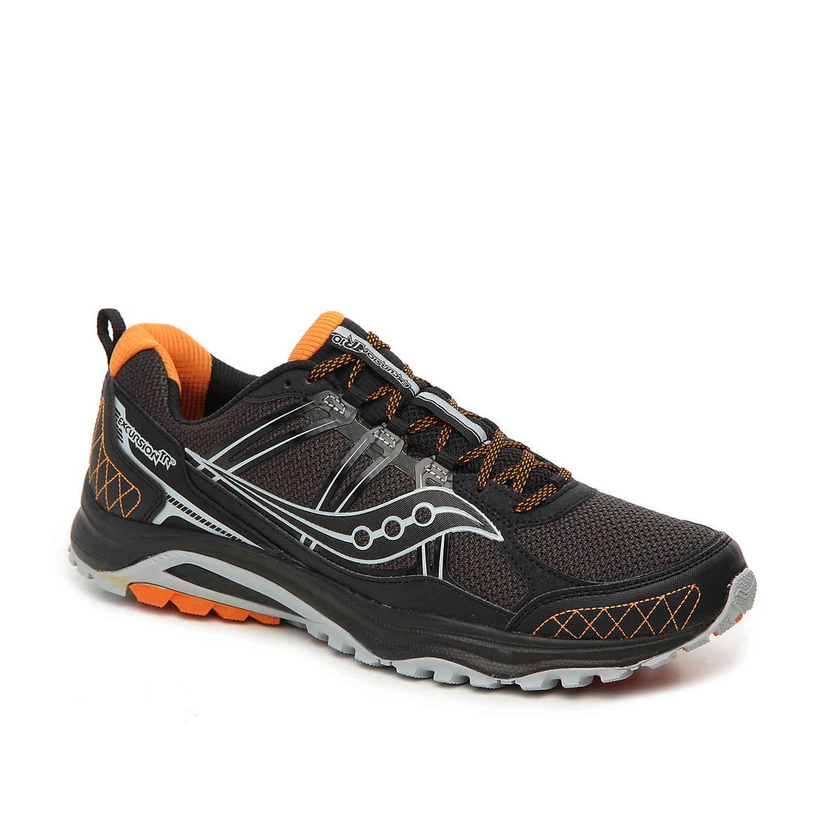 Click here to buy Saucony Grid Excursion TR10 Mens Grey Black Oran Sneakers by Saucony.