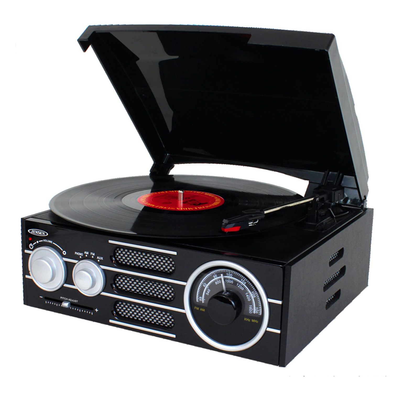 3-Speed Stereo Wood Cabinet Turntable - Walmart.com