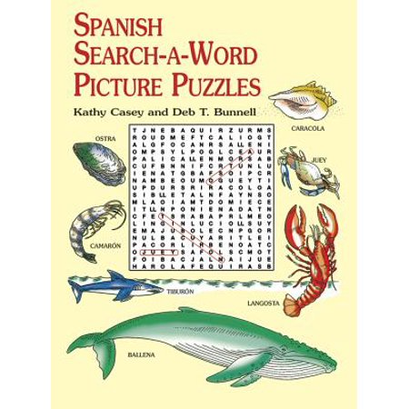 Spanish Search-A-Word Picture Puzzles - Spanish Halloween Activity