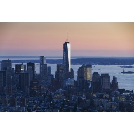 One World Trade Center as seen from the Empire State Building New York City New York United States Canvas Art - Peter Langer  Design Pics (38 x 24)