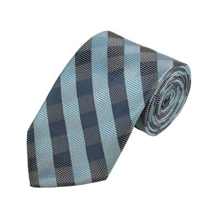 Sky Blue, Grey And Blue-Grey Checkered Woven (Gray Checkered Snap)