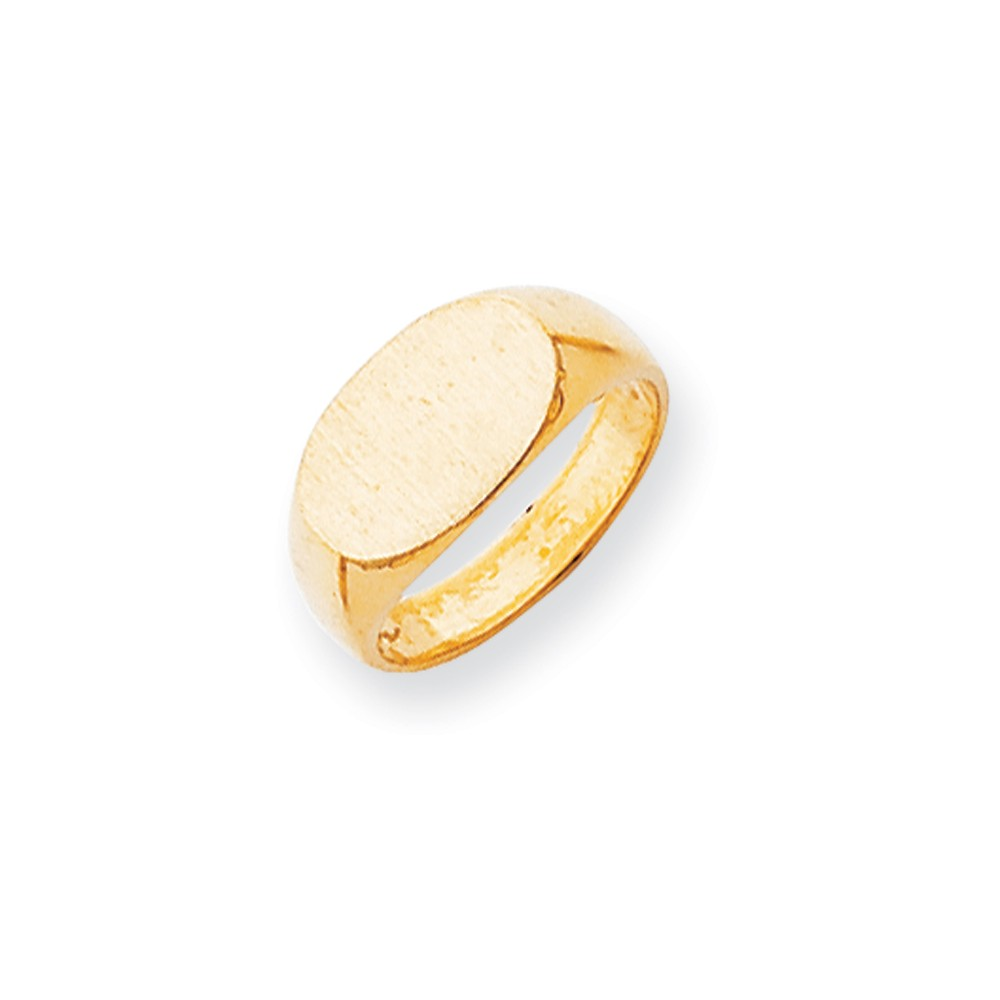14k Yellow Gold Engravable Signet Ring (8.2mm x 13.6mm face)