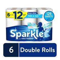 Sparkle Pick-A-Size Paper Towels, 6 Double Rolls