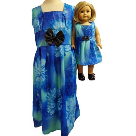 Matching Girls and Doll Blues Dress Size 7 - Size 7 Girls Dresses