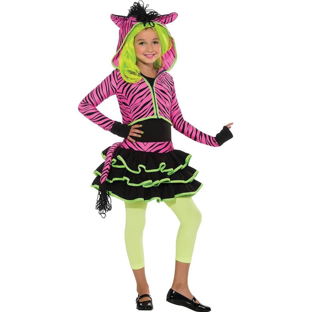 Rubie's Neon Pink Zebra Kids Costume