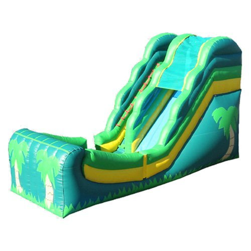 Kidwise 16 ft. Wet & Dry Inflatable Slide -Tropical Theme