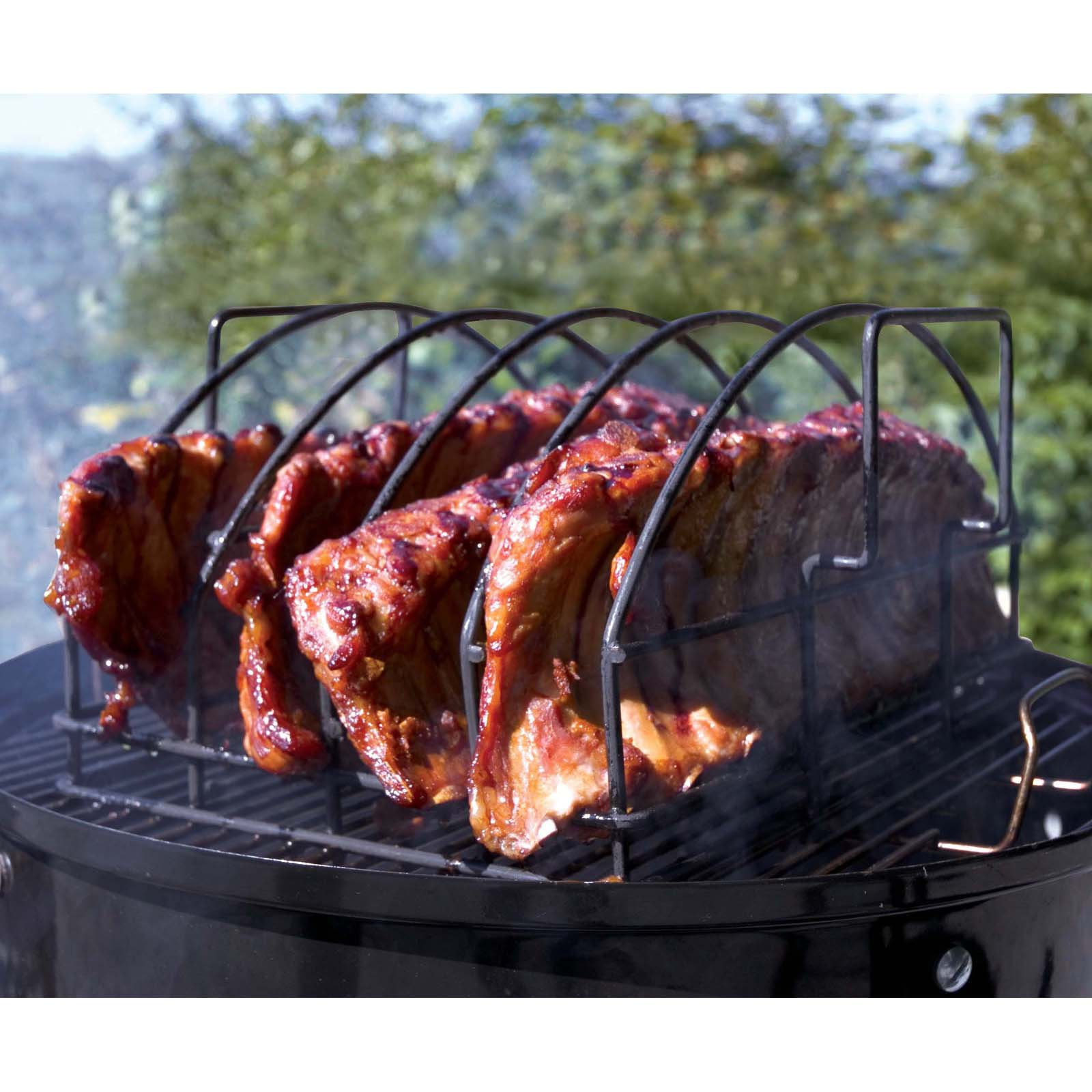 Steven Raichlen Best of Barbecue Nonstick Ultimate Rib Rack, for Oven, Grill or BBQ, SR8017