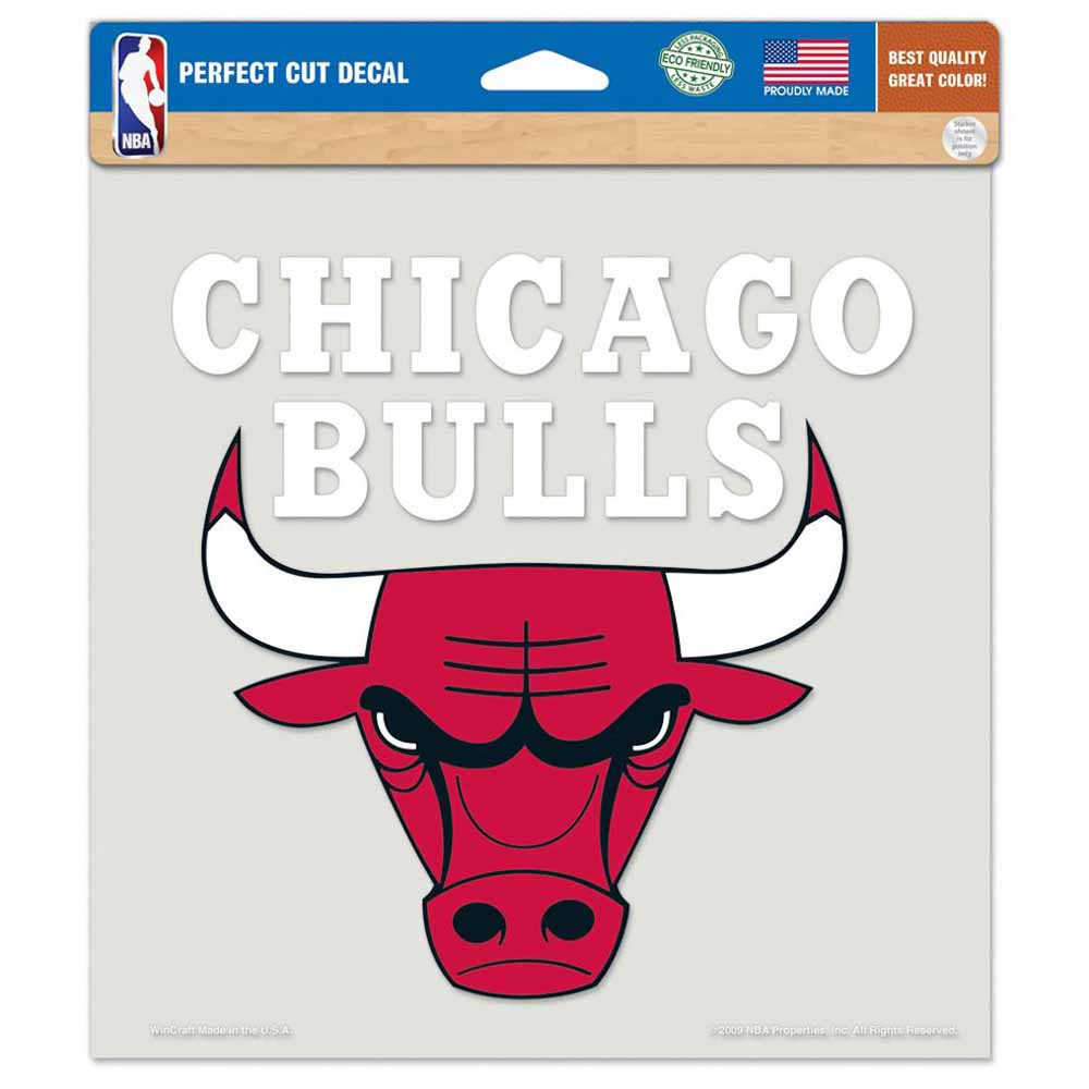 "Chicago Bulls Die-cut Decal - 8""x8"" Color by Wincraft, Inc."