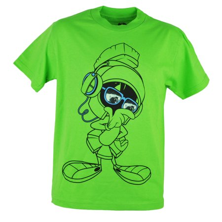 Looney Tunes Marvin The Martian World His Eyes Green Cartoon Tshirt Tee (Green Cartoon Eyes)