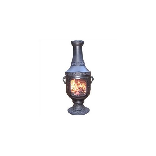 Blue Rooster Cast Aluminum Gas Chiminea