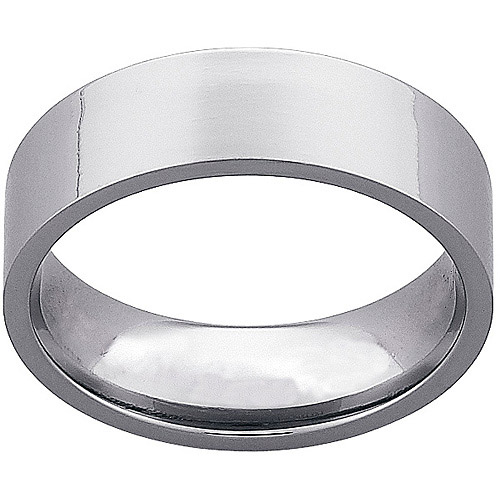 Men's 7mm Titanium Flat Wedding Band