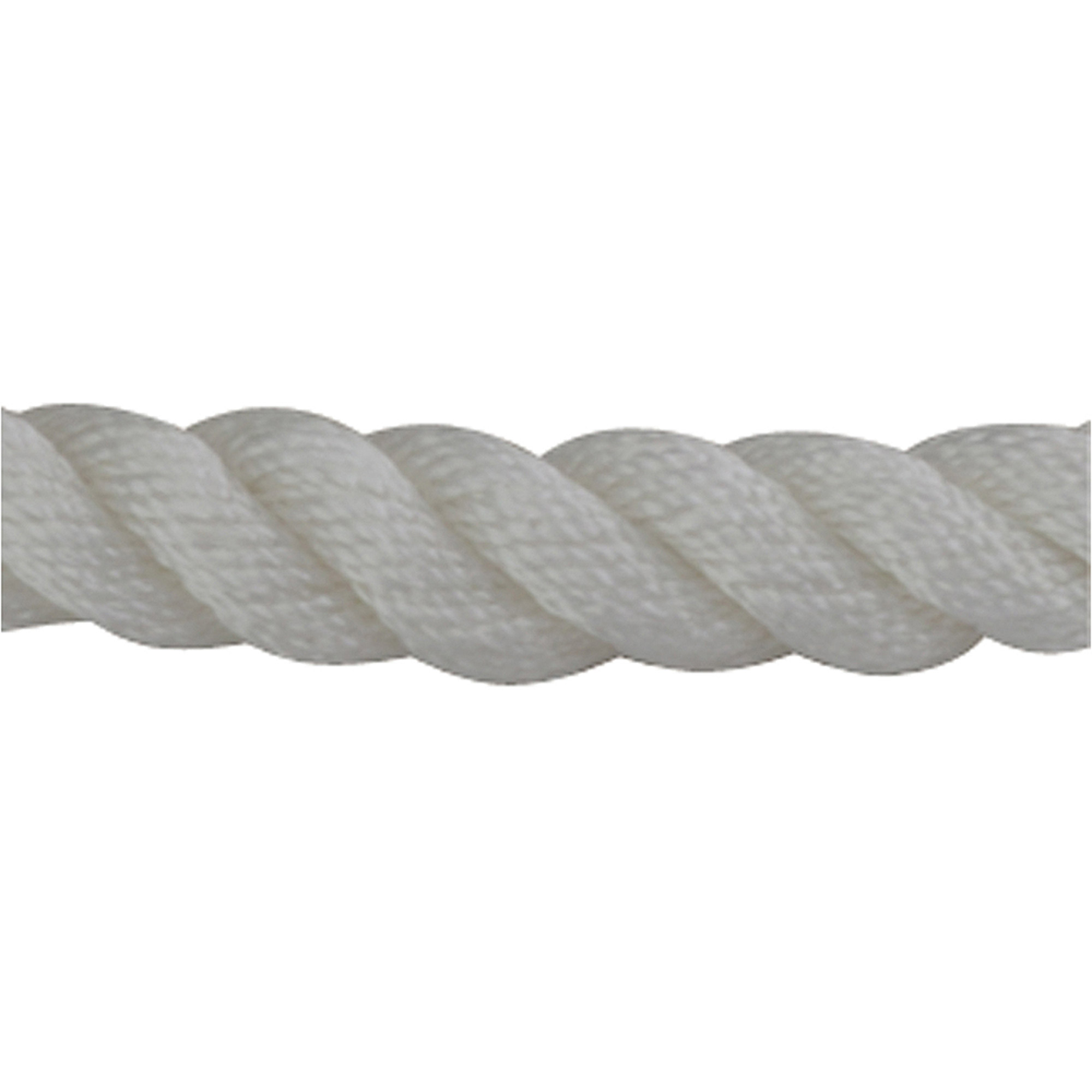 "Sea Dog Dock Line, Twisted Nylon, 3/8"" x 10', White"
