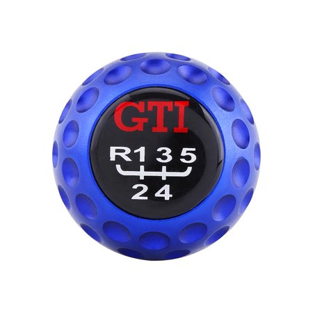 HERCHR Manual gear shifter, Car modified pole head gti manual gear shift head, Universal Aluminum 5 Speed Car Manual Gear Shift Knob Head Shifter Lever Blue, Shifter Lever fit for most Cars