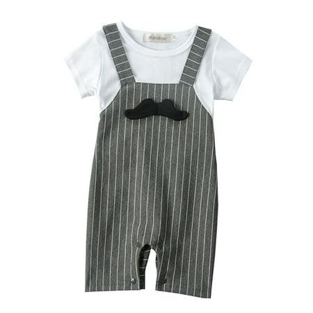 3b2f4842a StylesILove 3D Mustache Short Sleeve Baby Boy Romper Onesie Clothing ...