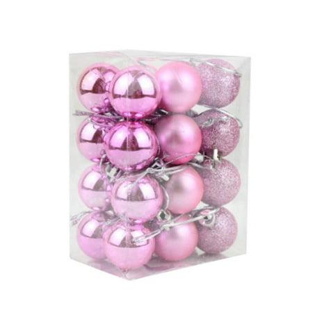 24x 3CM Christmas Glitter Bubbles Balls Xmas Tree Hanger Hanging Ornament Decor ()