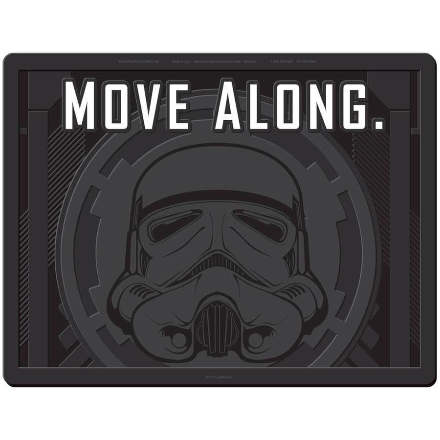 "Plasticolor Star Wars Stormtrooper Move Along 18"" x 24"" Utility Mat"