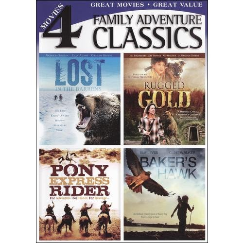 Classic Family Adventures: Lost In The Barrens / Rugged Gold / Pony Express Rider / Baker's Hawk