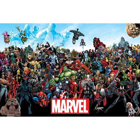 Marvel Comics Universe - Comic Poster / Print (All Marvel Characters) (Size: 36