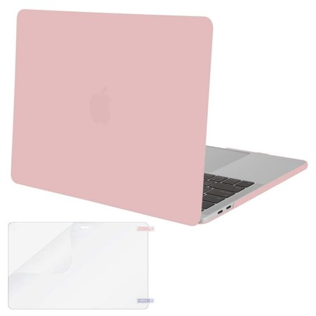 Mosiso MacBook Pro 13 Case A1989 /A1706/A1708,Plastic Hard Cover Case for Newest Macbook Pro 13 Inch with/without Touch Bar and Touch ID 2016 2017 2018,  Rose Quartz