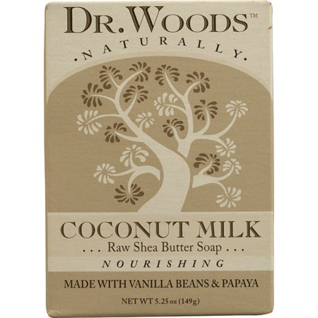 Dr. Woods Raw Shea Butter Soap, Coconut Milk 5.25 - Raw Shea Butter Soap