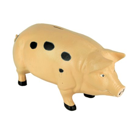 Spotted Cast Iron Vintage Style Giant Piggie Bank