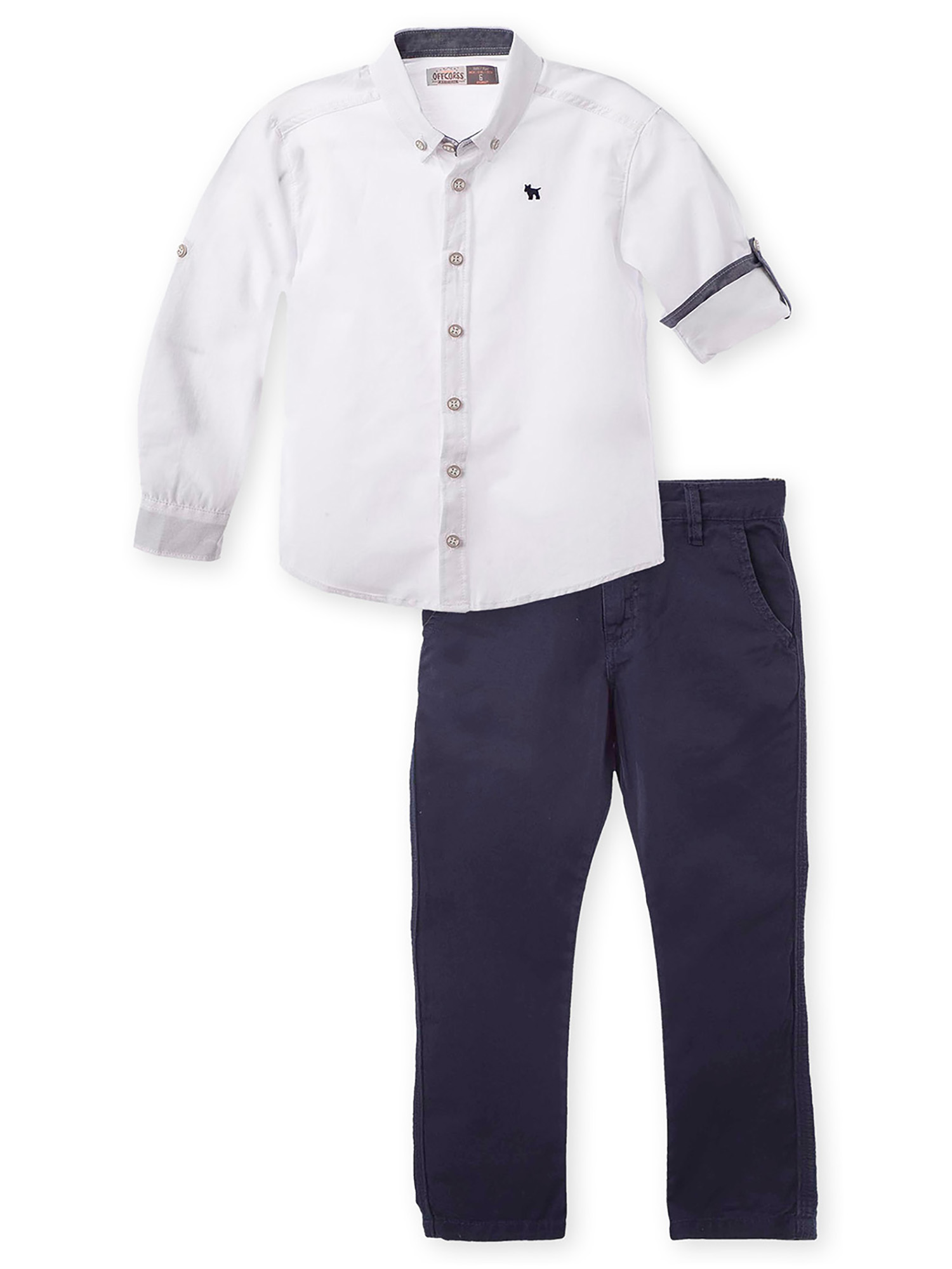 OFFCORSS Big Boy Pants and Long Sleeve Shirt Set