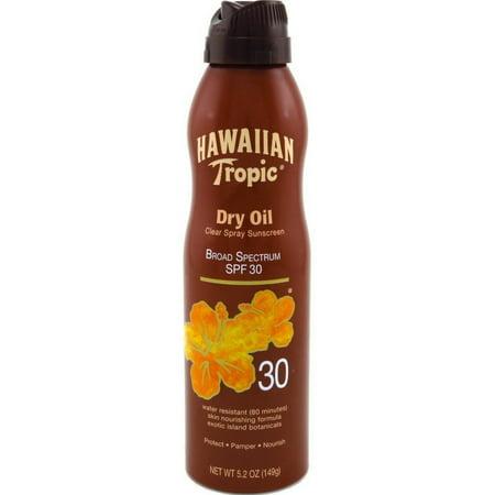 4 Pack - Hawaiian Tropic Dry Oil Clear Spray Sunscreen SPF 30 5.2
