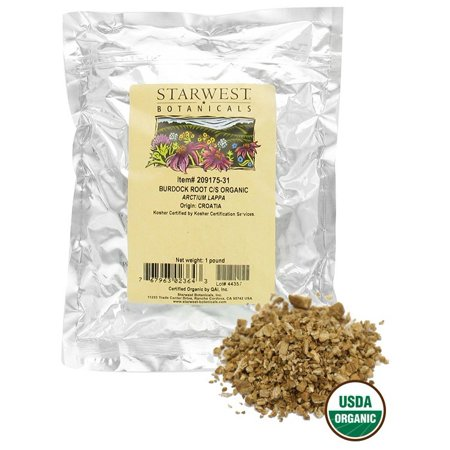 Organic Burdock Root (Starwest Botanicals - Bulk Burdock Root C/S Organic - 1 lb. )