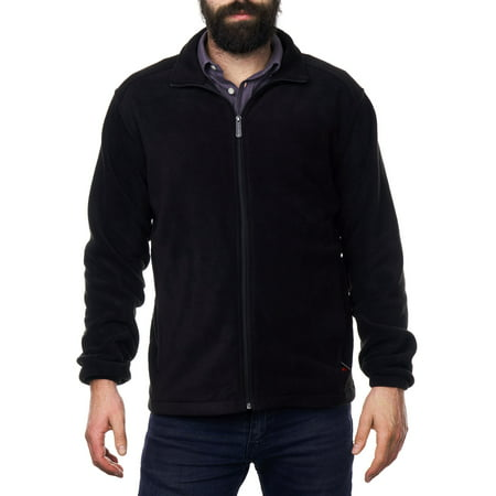 Alpine Swiss Trent Mens Full Zip Up Fleece Jacket Soft Casual Warm Zipper (Mens Barn Coat)