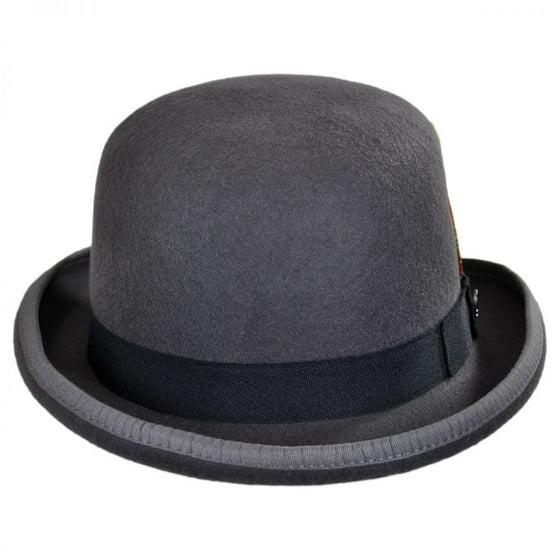 63e3e0b51e55e Jaxon Hats - English Wool Felt Bowler Hat - S - Gray - Walmart.com