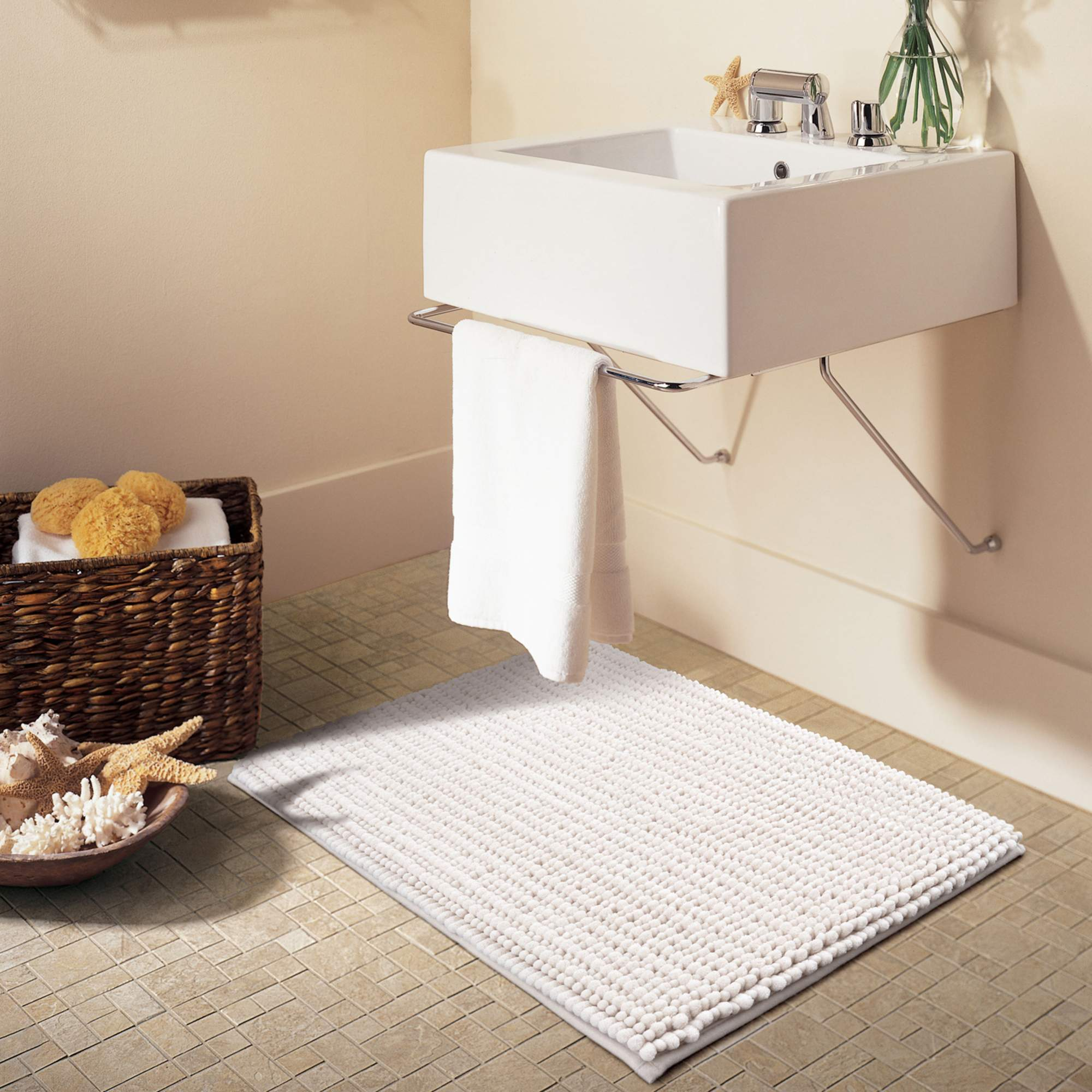 "Better Homes & Gardens Noodle Memory Foam Bath Rug, 20"" x 34"", Terrance Green"