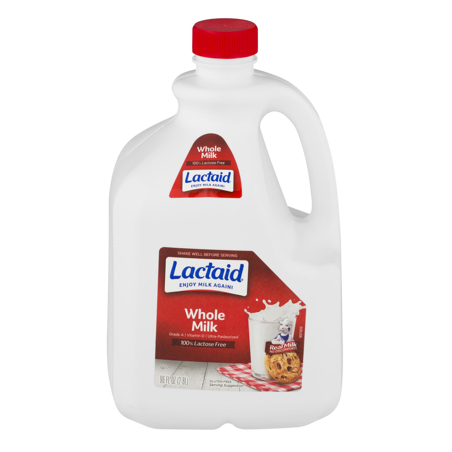 Lactaid 100% Lactose Free Whole Milk, 3 Quarts, 96 Fl. Oz.