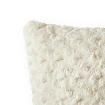 Better Homes & Gardens Rosette Plush Decorative Square Throw Pillow, 22