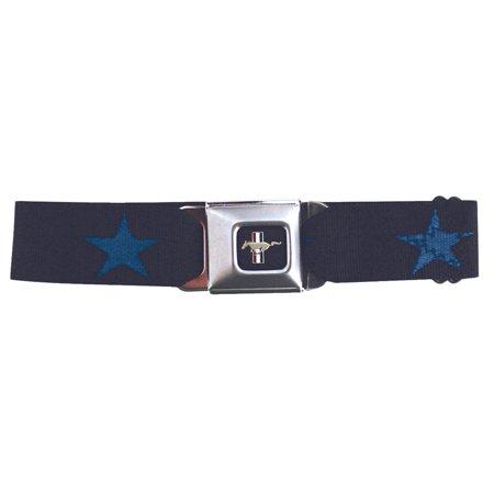 Mustang Seatbelt - Star Blue Web Belt 73 Mustang Seat Belts