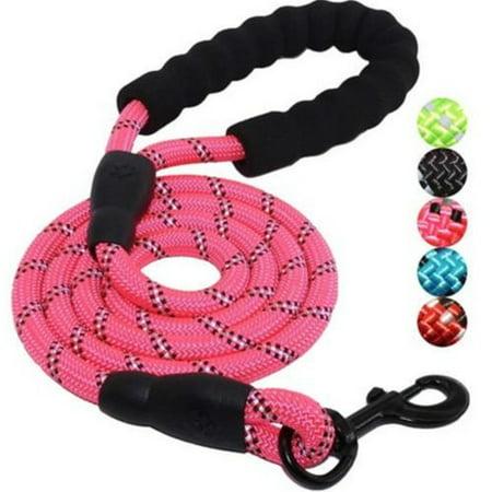 Durable Pet Collar Traction Dog Leash Slip Lead Strap Adjustable Nylon Rope (Pit Collar Leash)