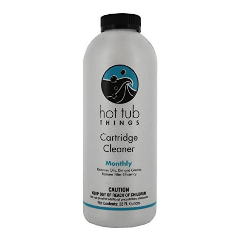 Hot Tub Things Spa Cartridge Cleaner 32 Oz - Designed for...
