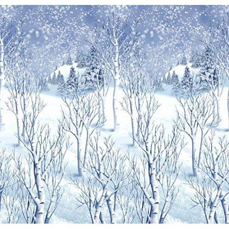 christmas decoration winter wonderland wall scene setter | plastic