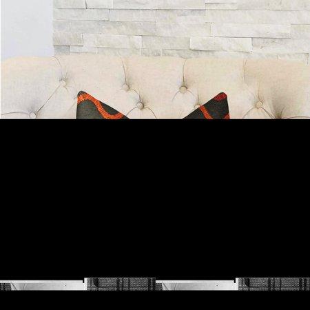 Plutus PBRA2305-2030-DP Serenity Flow Gray & Orange Luxury Throw Pillow, 20 x 30 in. Queen - image 2 de 3