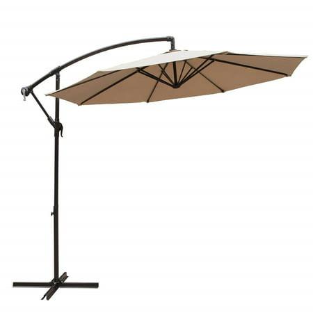 Barton Patio 10' Hanging Umbrella Off Set Outdoor Parasol, 4 colors