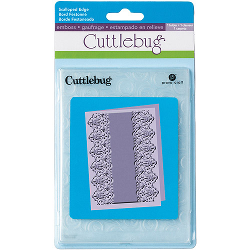 "Provo Craft Cuttlebug Embossing Folder, Scalloped Edge Lace, 7"" x 5"""