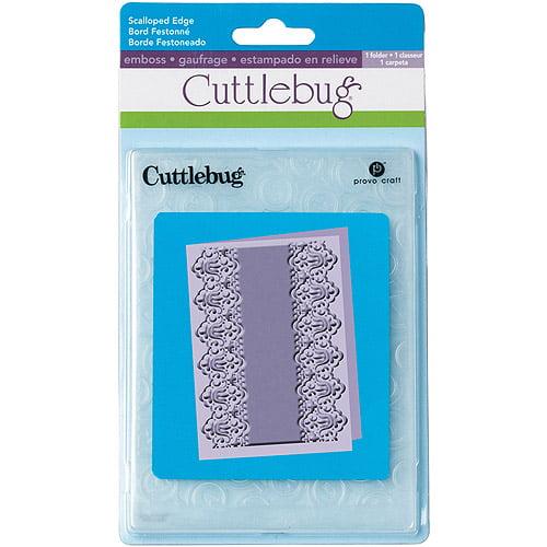 "Provo Craft Cuttlebug Embossing Folder, Scalloped Edge Lace, 7"" x 5"""