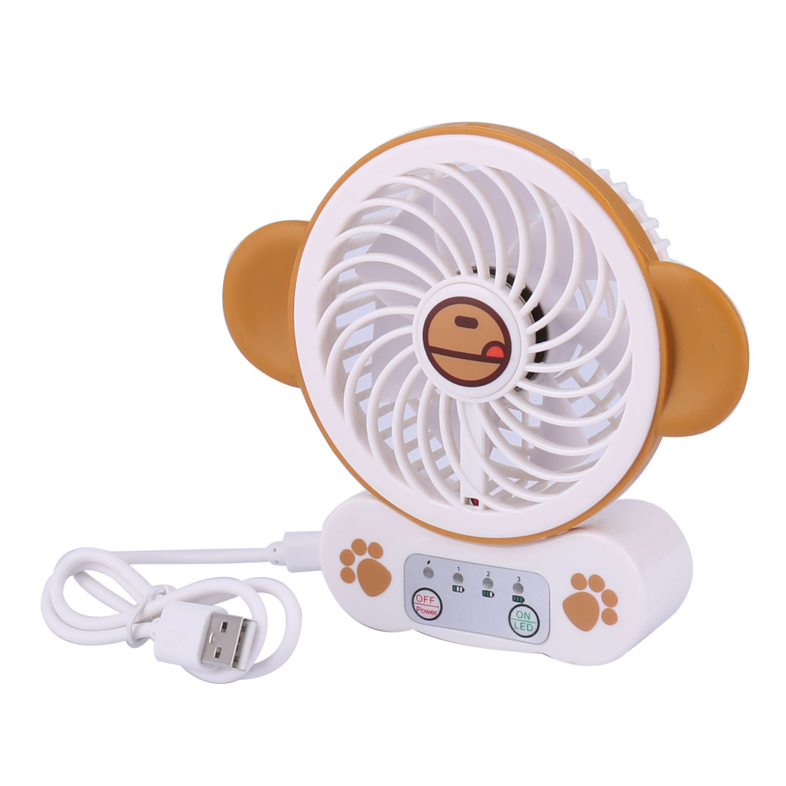 Plastic Home Outside Rechargeable Carton Pattern  USB Powered Cooler Fan