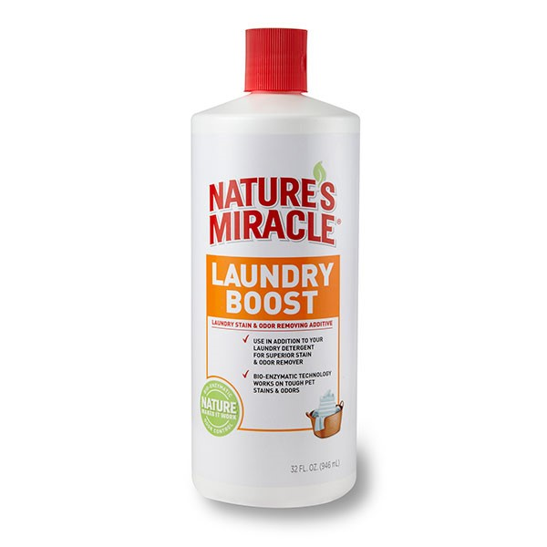 Companion Animal Nature's Miracle P-5556-101 Laundry Boost Stain and Odor Remover Additive, 32 oz