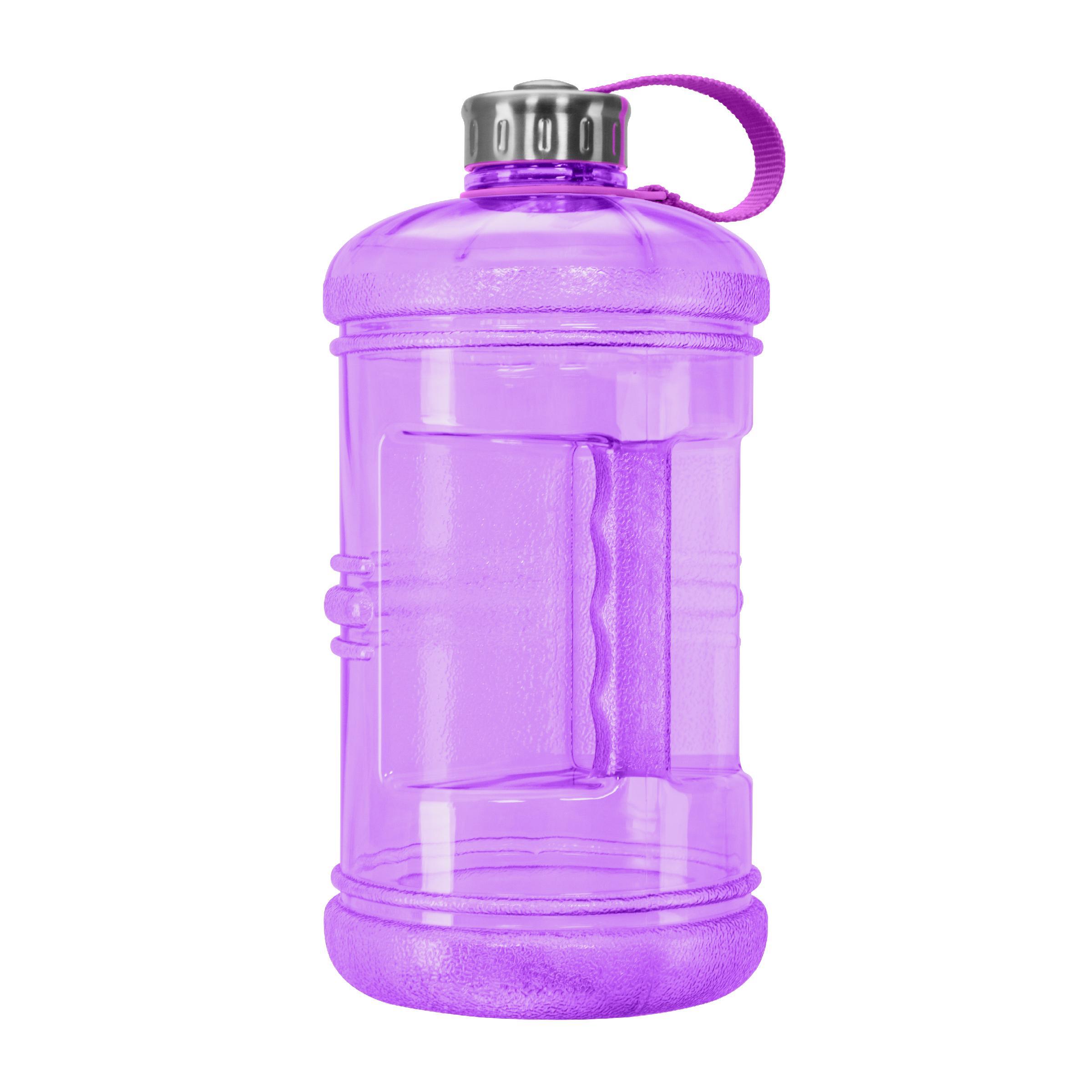 3 Liter BPA FREE Reusable Plastic Drinking Water Bottle w/ Steel Cap
