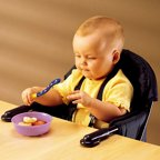 Fisher Price Space Saver High Chair And Booster Tan