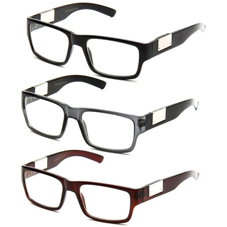 Newbee Fashion- Casual Nerd Thick Clear Frames Fashion Glasses Rectangular Clear Lens Eye Glasses White